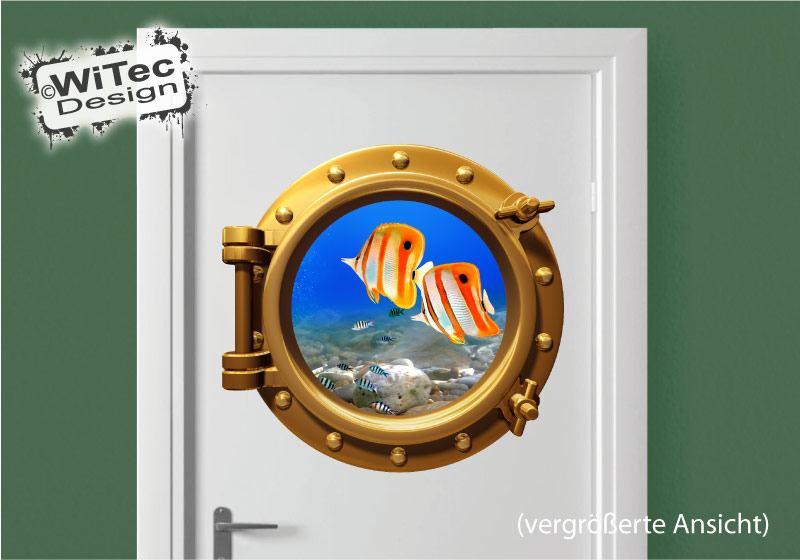 Türaufkleber Badezimmer Bullauge Fische Tür Aufkleber Türtattoo