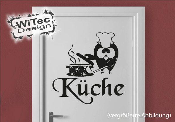 Eule Koch Küche Türaufkleber Türtattoo