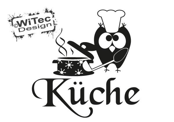 Türaufkleber Küche Eule Koch