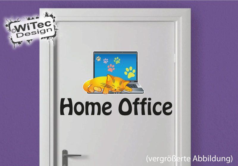 Katze Türaufkleber Laptop Katzenpfoten Home Office
