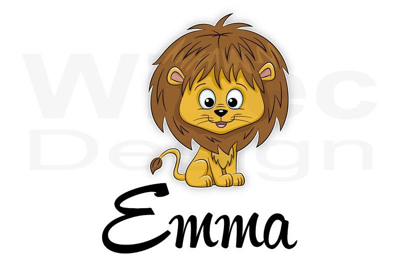 Türaufkleber Löwe Name Kinderzimmer