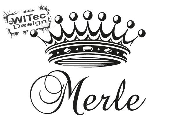 Türaufkleber Prinzessin Krone Wunsch Name
