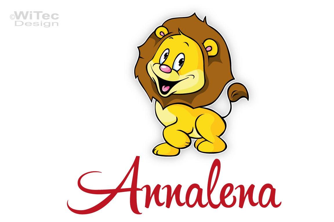 Türaufkleber Löwe Name Kinderzimmer Türtattoo Afrika