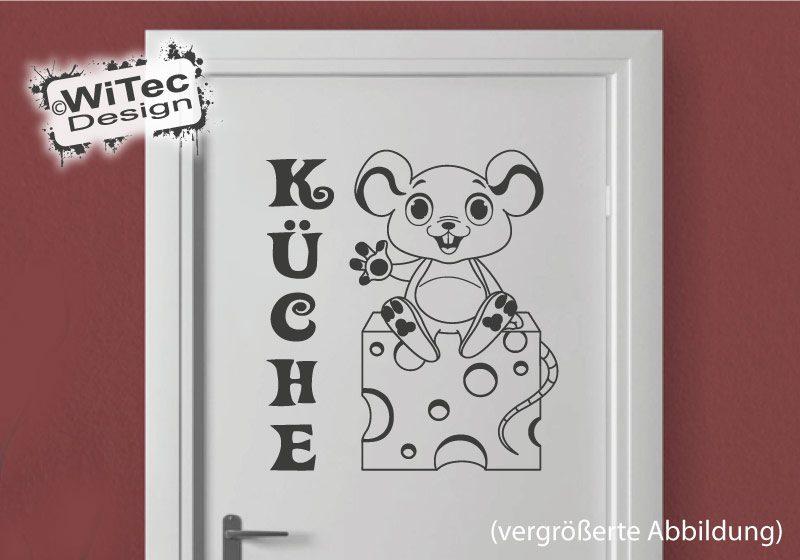 Türaufkleber Maus Käse Küche Türtattoo Küchentür