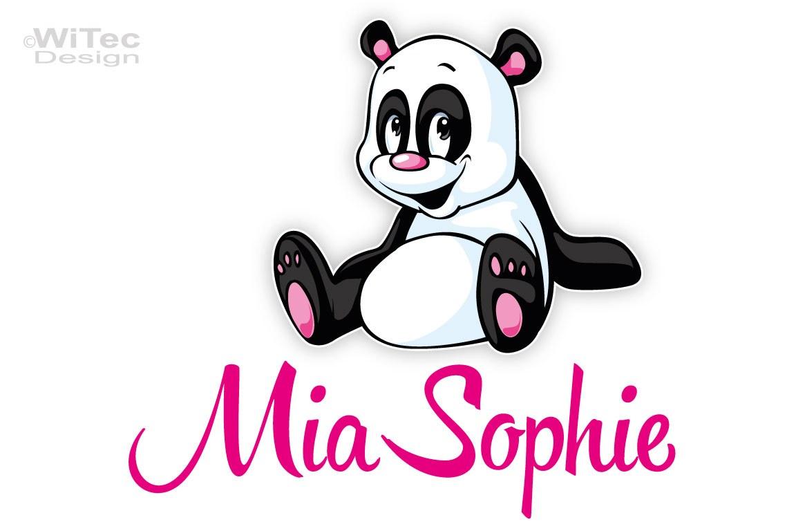 Türaufkleber Panda Bär Name Kinderzimmer Türtattoo