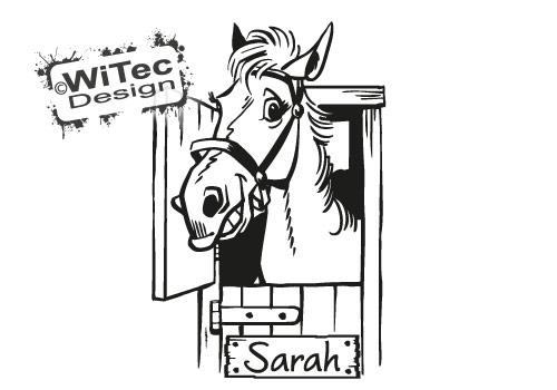 Türaufkleber Pferd Name Tür Aufkleber Wandtattoo
