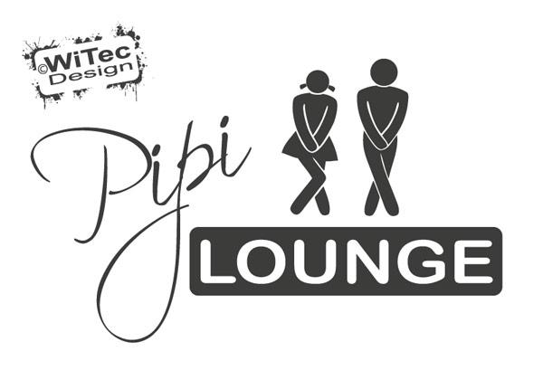 Badezimmer Türaufkleber Pipi Lounge