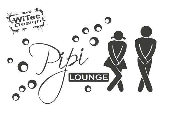 Türaufkleber Pipi Lounge Badezimmer