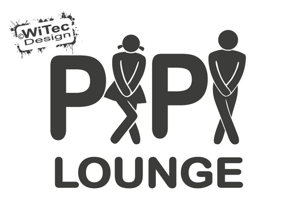 Türaufkleber Pipi Lounge WC Toilette