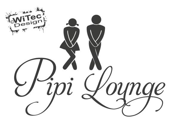 Pipi Lounge Türaufkleber Wandtattoo Tür Aufkleber WC TA034