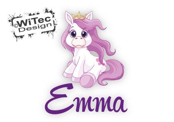 Türaufkleber Kinderzimmer Pony Pferd Prinzessin