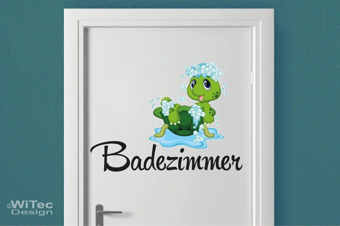 Türaufkleber Badezimmer Schildkröte Bad Türtattoo
