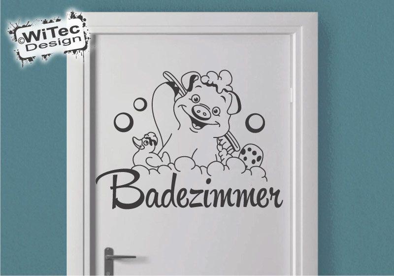 Türaufkleber Schwein Ente Badezimmer Türtattoo Aufkleber
