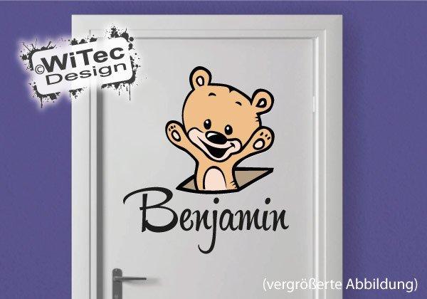 Türaufkleber Kinderzimmer Teddy Baby