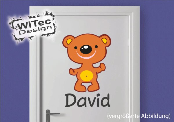 Teddy BlumenTüraufkleber Kinderzimmer