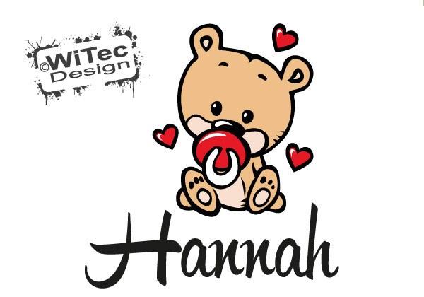 Teddy Baby Türaufkleber Kinderzimmer Herz