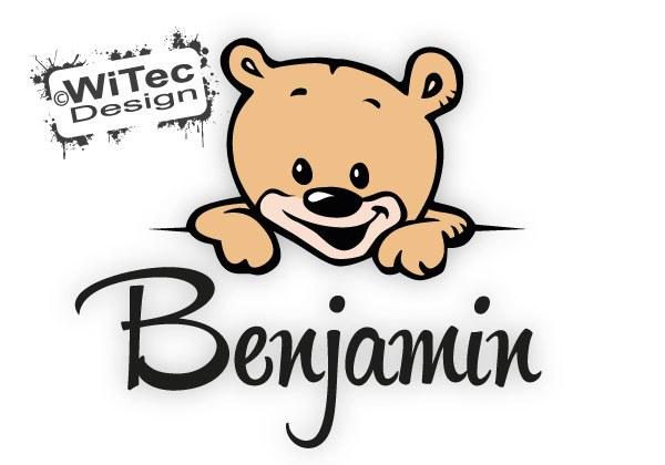 Türaufkleber Teddy Kinderzimmer Wunsch Name
