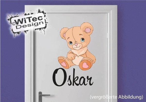 Teddy Türaufkleber Kinderzimmer