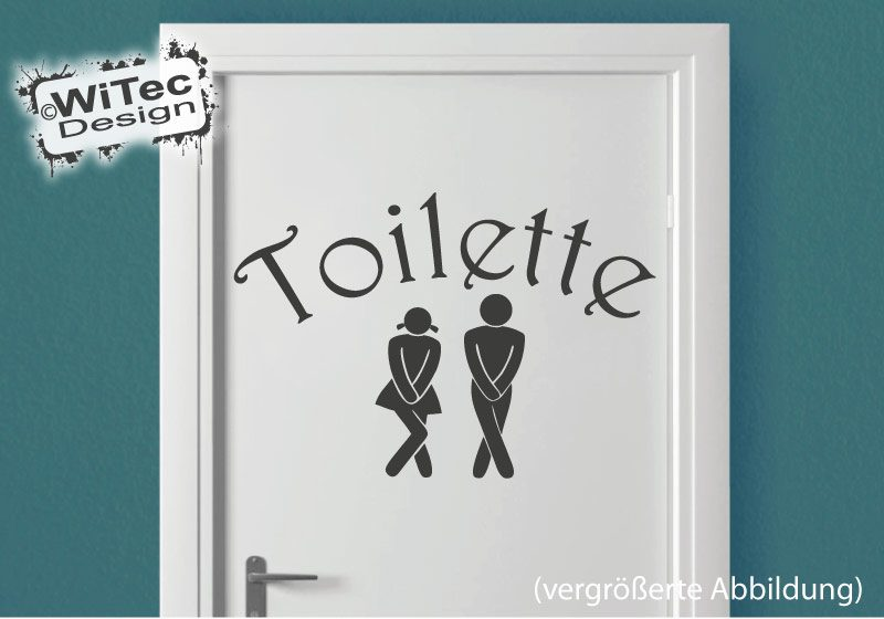 t raufkleber toilette t r aufkleber badezimmer wc. Black Bedroom Furniture Sets. Home Design Ideas