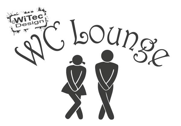 Türaufkleber WC Lounge Wandtattoo Bad Tür Aufkleber Sticker