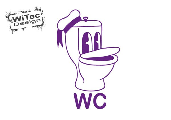 Türaufkleber WC Toilette Wandtattoo