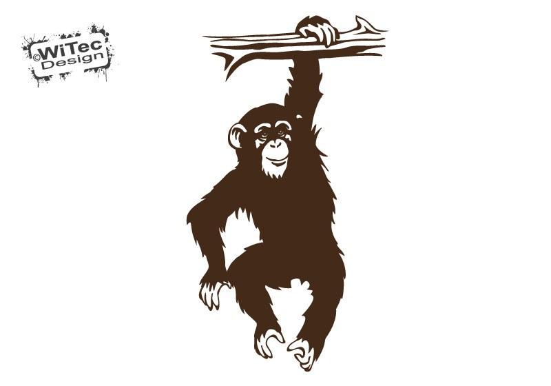 Affe Schimpanse Wandtattoo Kinderzimmer