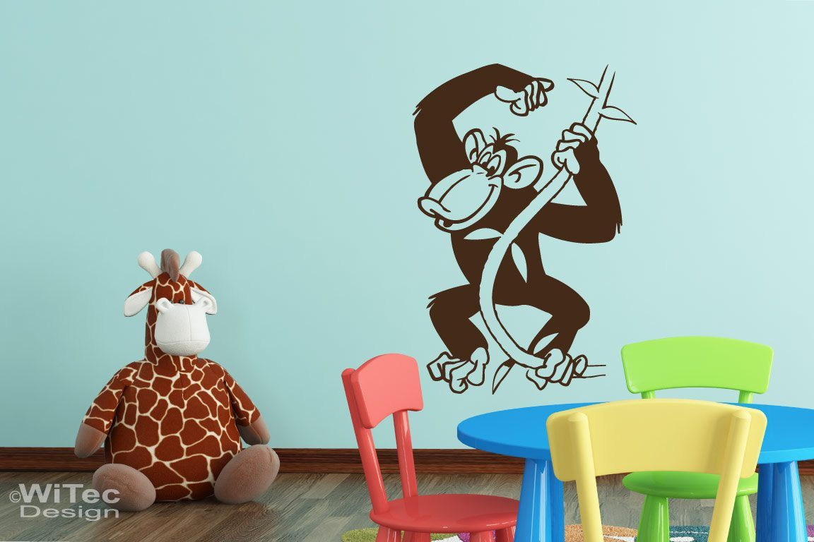 Wandtattoo Kinderzimmer Afrika Schimpanse Affe