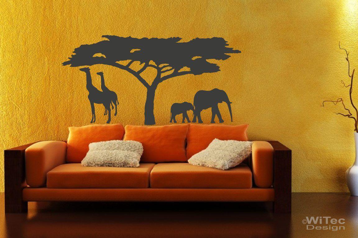Wandtattoo Afrika Wandaufkleber