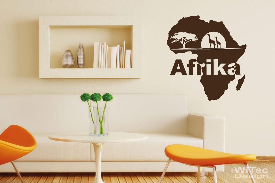 Wandtattoo Afrika Giraffe Wandaufkleber