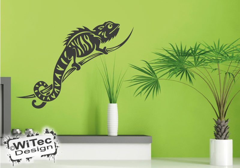 cham leon leguan reptil wandaufkleber wandtattoo. Black Bedroom Furniture Sets. Home Design Ideas