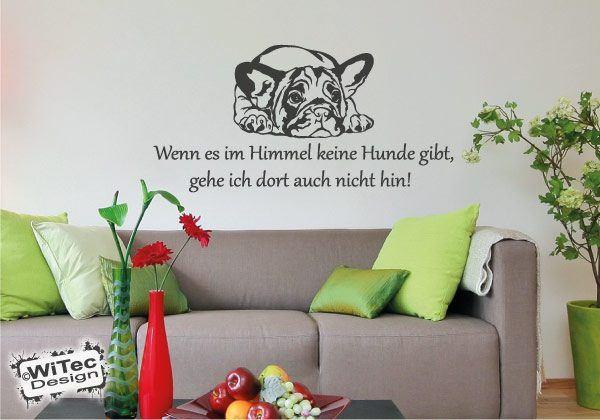 Wandtattoo Französische Bulldogge Zitat Hunde