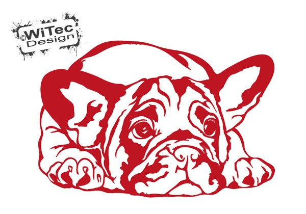 Wandtattoo Französische Bulldogge Wandaufkleber