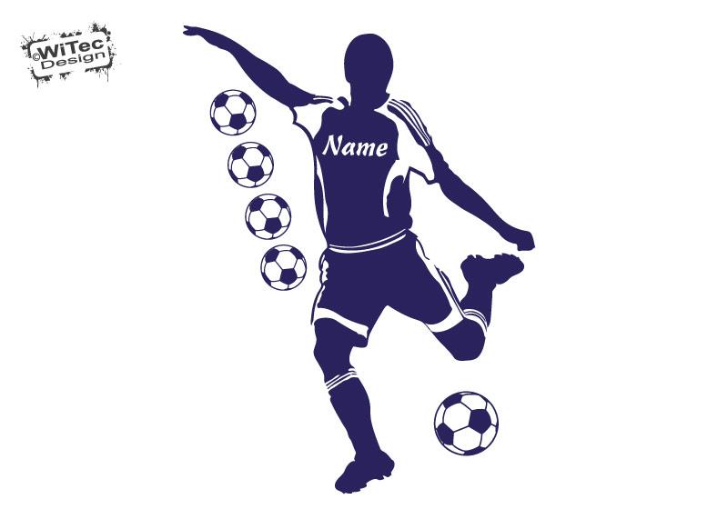 Wandtattoo Fußball Fussball Wandaufkleber Kinderzimmer