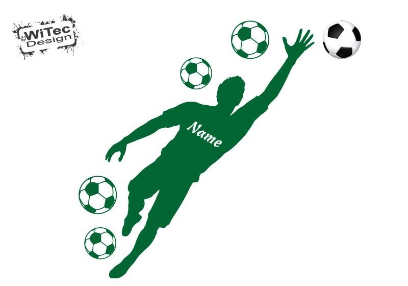 Wandtattoo Fußballer Torwart Name Fussball Wandaufkleber