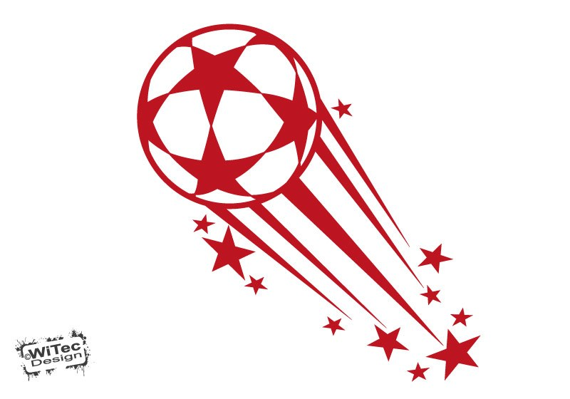 Wandtattoo Fußball Fussball Sterne Wandaufkleber