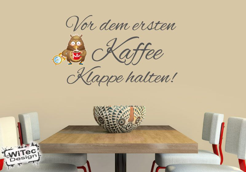 Wandtattoo Kaffee Eule Wandaufkleber Küche