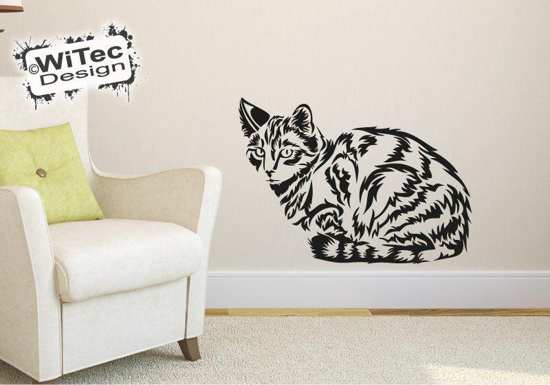 Wandtattoo Katze Tigerkatze Wandaufkleber