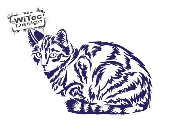 Wandtattoo Katze Tigerkatze Wandaufkleber Pfoten