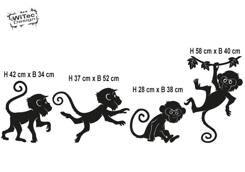 Wandtattoo Affe Kinderzimmer Wandaufkleber