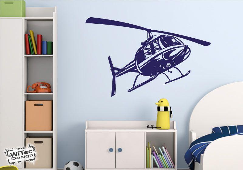 Hubschrauber Helikopter Wandtattoo Wandaufkleber Flugsport