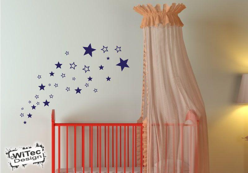 Wandtattoo sterne kinderzimmer wandsticker for Kinderzimmer sterne
