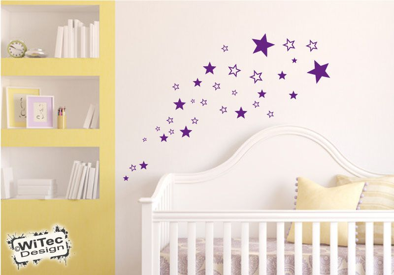 wandtattoo sterne kinderzimmer wandsticker. Black Bedroom Furniture Sets. Home Design Ideas
