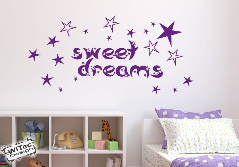 Wandtattoo Kinderzimmer Sweet Dreams Sterne Wandaufkleber