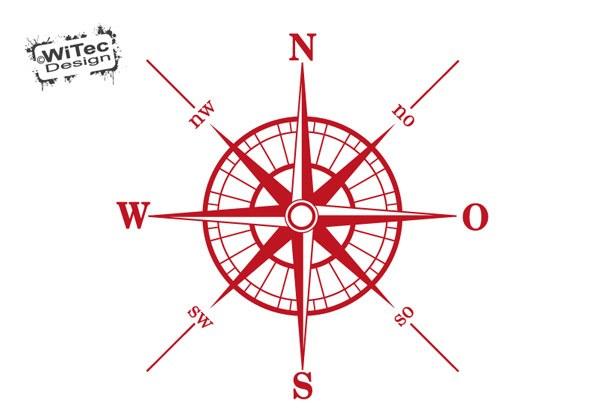 Wandaufkleber KompassWelt Schiff Nautik Wandtattoo