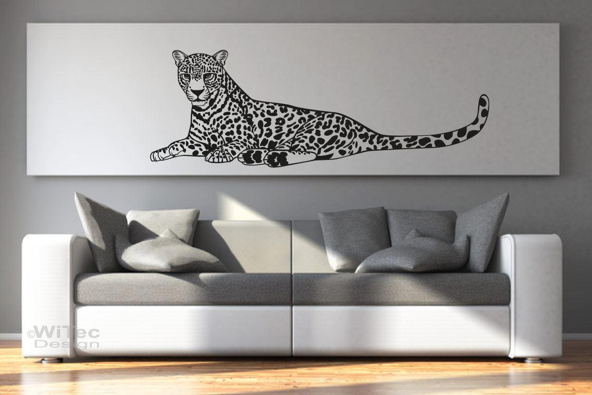 Wandtattoo Leopard Wandaufkleber Afrika