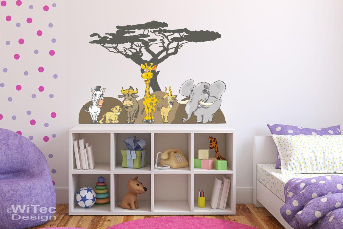 Wandaufkleber AFRIKA Giraffe Zebra Elefant Löwe