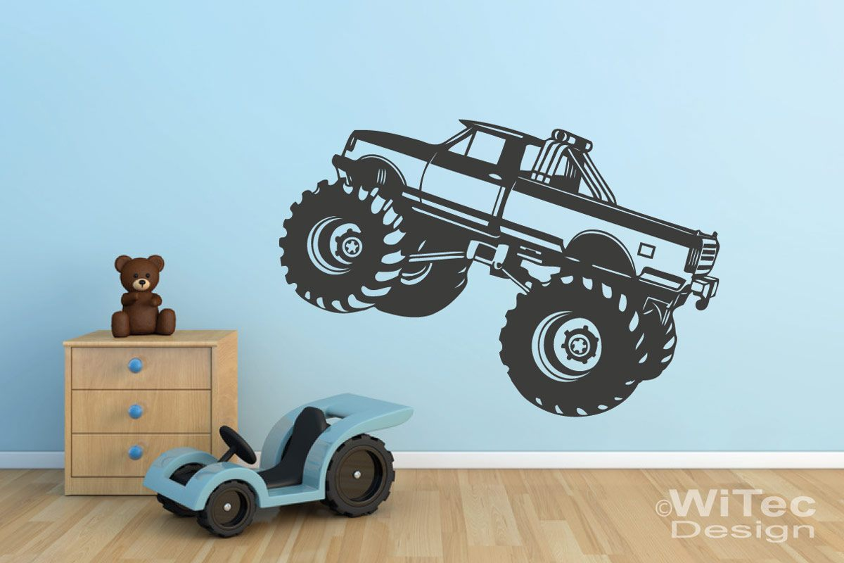 Wandtattoo Monstertruck Wandaufkleber Truck Kinderzimmer