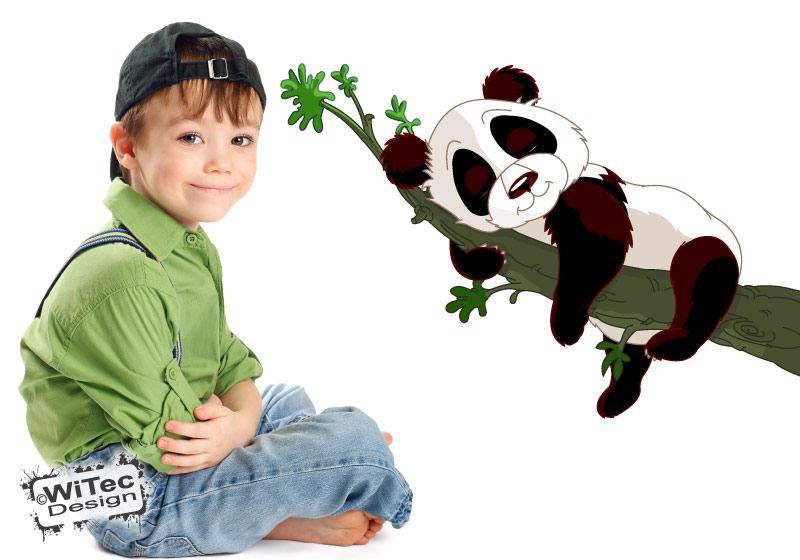 Wandtattoo Panda Bär Kinderzimmer Wandaufkleber