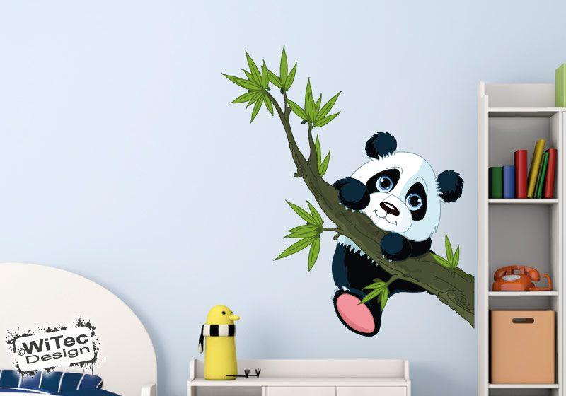 Panda Bär Wandtattoo Kinderzimmer Wandaufkleber