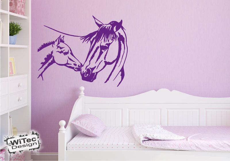 wandtattoo pferd stute fohlen kinderzimmer. Black Bedroom Furniture Sets. Home Design Ideas